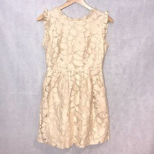 Anthropologie Tulle Crochet Mini Dress Small